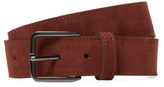 Peter Werth Suede Square Buckle Belt