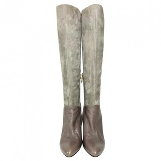Bally Grey Suede Boots
