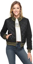 Juicy Couture Quilted Nylon Reversible Puffer Jacket