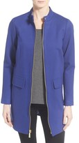 Vince Camuto Stand Collar Ponte Zip Front Coat