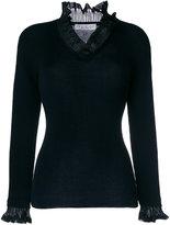 D-Exterior D.Exterior ruffled detail sweater