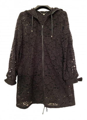 Twin-Set Twin Set Black Cotton Trench coats