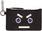 Fendi Black 'Fendi Faces' Pouch Keychain