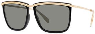Celine Men's Two-Tone Square Metal Sunglasses