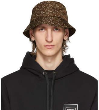 Burberry Brown Monogram Bucket Hat