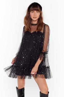 Nasty Gal Womens Star and Wide Mesh Mini Dress - Black
