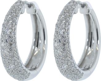Kwiat Pave Diamond Cobblestone Hoop Earrings