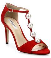 LK Bennett Alejandra Pearly Suede T-Strap Sandals