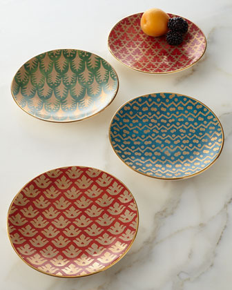 L'OBJET Four Assorted Fortuny Canape Plates