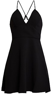 BCBGeneration Crisscross-Back Fit-and-Flare Dress