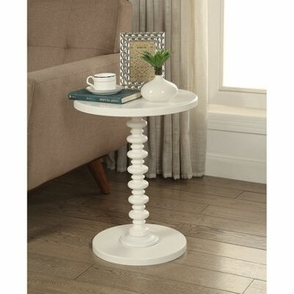 Longshore Tides Rogerson Pedestal End Table Color: White