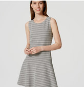 LOFT Tall Textured Stripe Drop Waist Dress