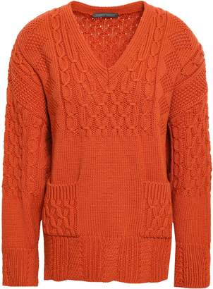 Alberta Ferretti Cable-knit Virgin Wool Sweater
