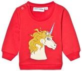 Mini Rodini Red Unicorn Sweatshirt