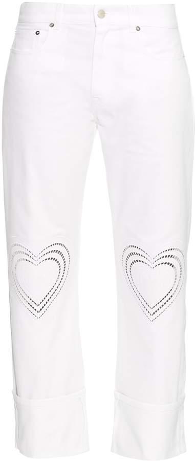 Christopher Kane Love Hearts boyfriend jeans