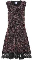 Oscar de la Renta Lace-trimmed boucle dress