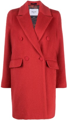 Paltò Double-Breasted Wool-Blend Coat