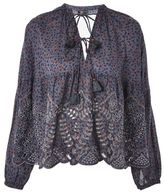 Topshop Ditsy broderie smock blouse