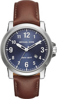 Michael Kors MK8501 Paxton stainless steel and leather watch