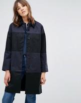 YMC Stripe Longline Overcoat