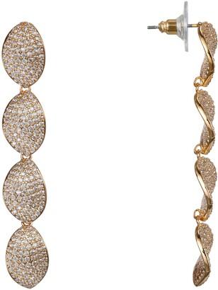 Nina Linear Petal Drop Earrings