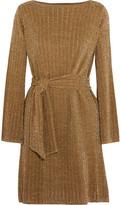 Vanessa Seward Chimere Metallic Pointelle-Knit Dress