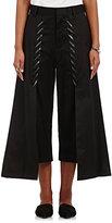 Noir Kei Ninomiya Women's Whipstitched Cotton Twill Culottes-BLACK