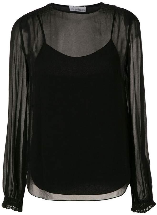772481d22468f4 Black Silk Blouse - ShopStyle