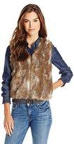 Splendid Women's Ashville Reversible Fur Vest