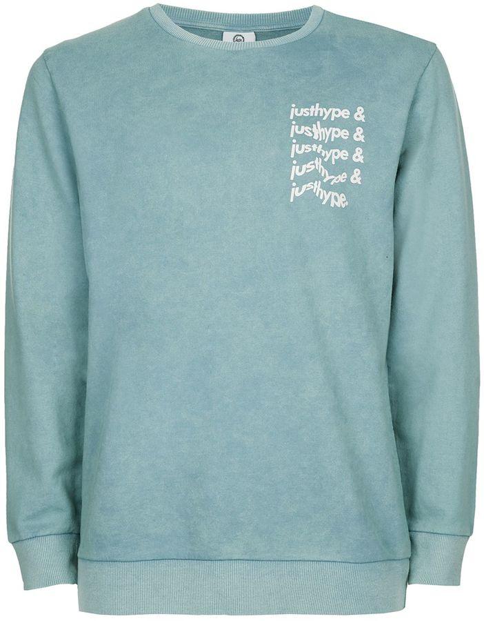 Hype Green Acid Wash Sweatshirt*
