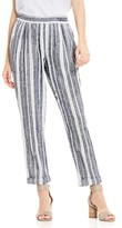 Women's Two By Vince Camuto Stripe Linen Blend Ankle Pants