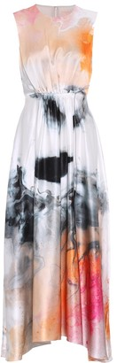Roksanda Printed silk-satin dress