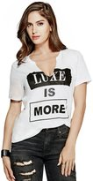 GUESS Split V-Neck Luxe Tee