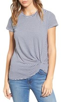 Stateside Women's Front Twist Stripe Tee
