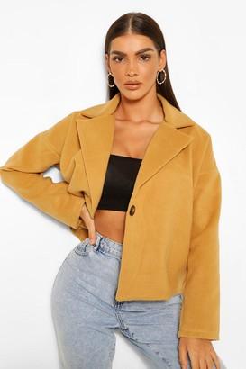 boohoo Oversized Short Wool Look Coat