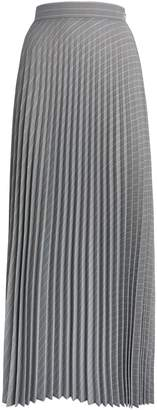 Max Mara Stripe Pleated Maxi Skirt