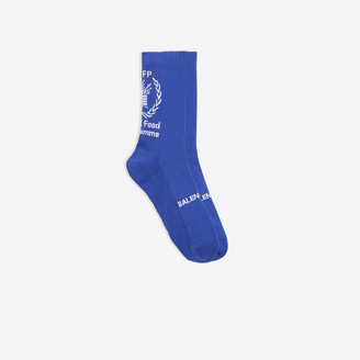 Balenciaga Socks in blue and white WFP printed cotton