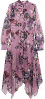 Erdem Kaylah Floral-print Silk-chiffon Midi Dress - Purple
