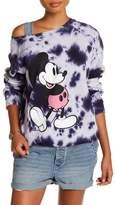 Junk Food Clothing Mickey Mouse Tie-Dye Long Raglan Sleeve Tee