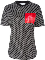 Carven butterfly pocket striped T-shirt - women - Silk - 36