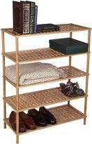 Click Clack Household Essentials 5-Tier Bamboo Shoe Rack