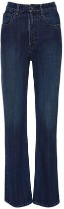 Prada High Waist Flared Cotton Denim Jeans