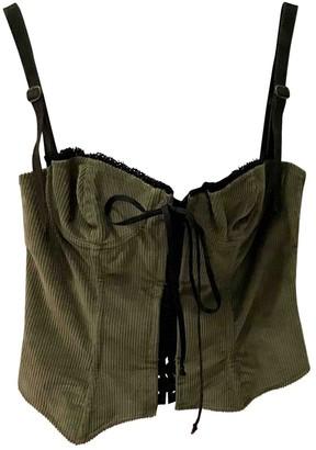 Dolce & Gabbana Green Velvet Top for Women