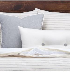 Siscovers Ticking Stripe Pewter 6 Piece Queen Luxury Duvet Set Bedding