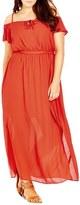 City Chic Cold Shoulder Maxi Dress (Plus Size)