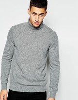 Benetton 100 Merino Wool Roll Neck Sweater