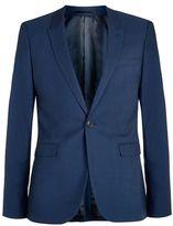 Topman Navy Twill Ultra Skinny Fit Suit Jacket