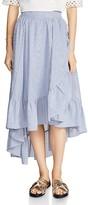 Maje John Ruffled Midi Skirt