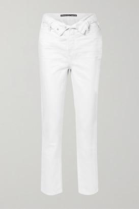 Alexander Wang Cult Flip Fold-over High-rise Straight-leg Jeans - White