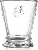 French Home La Rochère Glassware, Set of 6 Napoleonic Bee Tumblers